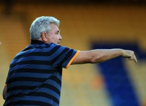 MANSFIELD, ENGLAND - JULY 19:  Steve Bruce manager of Hull City during the pre-season friendly match between Mansfield Town and Hull City at the One Call Stadium on July 19, 2016 in Mansfield, England. (Photo by Clint Hughes/Getty Images)