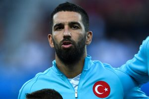 NICE, FRANCE - JUNE 17:  Arda Turan of Turkey looks on before the kick off during the UEFA EURO 2016 Group D match between Spain and Turkey at Allianz Riviera Stadium on June 17, 2016 in Nice, France.  (Photo by David Ramos/Getty Images)