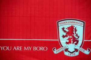 MIDDLESBROUGH, ENGLAND - MARCH 04:   A Middlesbrough sign is seen outside the Riverside Stadium, home of Middlesbrough Football Club on March 4, 2011 in Middlesbrough, England.  (Photo by Jamie McDonald/Getty Images)