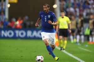 BORDEAUX, FRANCE - JULY 02:  Giorgio Chiellini of Itlay runs with the ball during the UEFA EURO 2016 quarter final match between Germany and Italy at Stade Matmut Atlantique on July 2, 2016 in Bordeaux, France.  (Photo by Alexander Hassenstein/Getty Images)