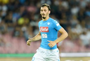 NAPLES, ITALY - AUGUST 01: Manolo Gabbiadini of Napoli in action during the pre-season friendly match between SSC Napoli and OGC Nice at Stadio San Paolo on August 1, 2016 in Naples, Italy.  (Photo by Francesco Pecoraro/Getty Images)