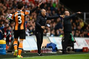 SWANSEA, WALES - AUGUST 20: Francesco Guidolin, Manager of Swansea City gesticulates during the Premier League match between Swansea City and Hull City at Liberty Stadium on August 20, 2016 in Swansea, Wales. (Photo by Patrik Lundin/Getty Images)