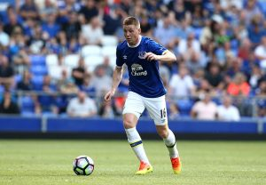 LIVERPOOL, ENGLAND - AUGUST 06:  James McCarthy of Everton in action during the pre-season friendly match between Everton and Espanyol at Goodison Park on August 6, 2016 in Liverpool, England.  (Photo by Jan Kruger/Getty Images)