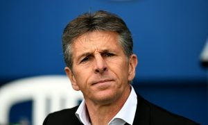 Nice's French head coach Claude Puel attends the French L1 football match between Paris Saint-Germain and Nice at the Parc des Princes stadium in Paris on April 2, 2016.   / AFP / FRANCK FIFE        (Photo credit should read FRANCK FIFE/AFP/Getty Images)