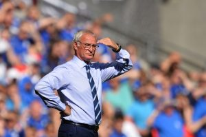 Leicester City's Italian manager Claudio Ranieri watches from the touchline during the FA Community Shield football match between Manchester United and Leicester City at Wembley Stadium in London on August 7, 2016.  / AFP / GLYN KIRK / NOT FOR MARKETING OR ADVERTISING USE / RESTRICTED TO EDITORIAL USE        (Photo credit should read GLYN KIRK/AFP/Getty Images)