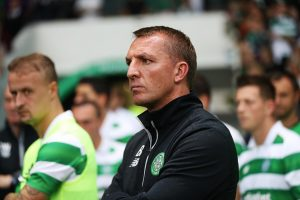 GLASGOW, SCOTLAND - JULY 23:  Celtic manager Brendan Rodgers looks on during the Pre Seanon Friendly match between Cetlic and Leicester City at Celtic Park Stadium on July 23, 2016 in Glasgow, Scotland. (Photo by Ian MacNicol/Getty Images)