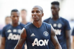 SHANGHAI, CHINA - JULY 21:  Ashley Young of Manchester United looks on during the team training session as part of their pre-season tour of China at Shanghai Stadium on July 21, 2016 in Shanghai, China.  (Photo by Lintao Zhang/Getty Images)