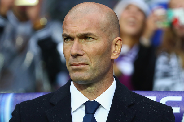 TRONDHEIM, NORWAY - AUGUST 09:  Zinedine Zidane, Head Coach of Real Madrid  looks on during the UEFA Super Cup match between Real Madrid and Sevilla at Lerkendal Stadium on August 9, 2016 in Trondheim, Norway.  (Photo by Michael Steele/Getty Images)