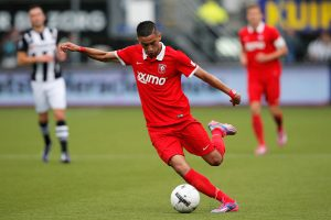 ALMELO, NETHERLANDS - SEPTEMBER 21:  Hakim Ziyech of Twente in action during the Dutch Eredivisie match between Heracles Almelo and FC Twente at Polman Stadion on September 21, 2014 in Almelo, Netherlands.  (Photo by Dean Mouhtaropoulos/Getty Images)