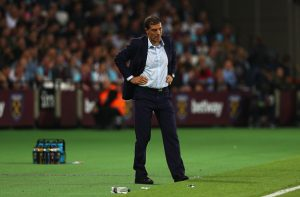 LONDON, ENGLAND - SEPTEMBER 21:  Manager of West Ham United, Slaven Bilic looks on  during the  EFL Cup Third Round match between West Ham United and Accrington Stanley at the London Stadium on September 21, 2016 in London, England.  (Photo by Ian Walton/Getty Images)