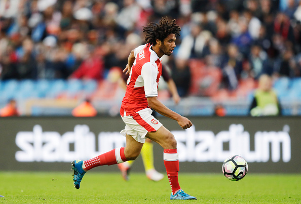 GOTHENBURG, SWEDEN - AUGUST 07: Mohamed Elneny of Arsenal during the Pre-Season Friendly between Arsenal and Manchester City at Ullevi on August 7, 2016 in Gothenburg, Sweden. (Photo by Nils Petter Nilsson/Ombrello/Getty Images)