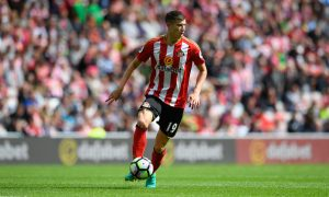 SUNDERLAND, ENGLAND - AUGUST 21:  Sunderland player Paddy McNair in action during the Premier League match between Sunderland and Middlesbrough at Stadium of Light on August 21, 2016 in Sunderland, England.  (Photo by Stu Forster/Getty Images )