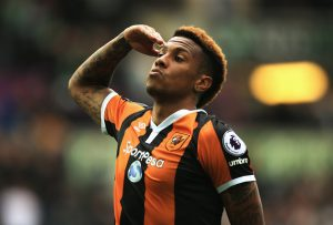 SWANSEA, WALES - AUGUST 20:  Abel Hernandez of Hull City celebrates scoring his sides second goal during the Premier League match between Swansea City and Hull City at Liberty Stadium on August 20, 2016 in Swansea, Wales.  (Photo by Ben Hoskins/Getty Images)