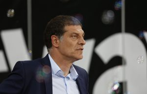 West Ham United's Croatian manager Slaven Bilic reacts ahead of the English League Cup third round football match between West Ham United and Accrington Stanley at The London Stadium, in east London on September 21, 2016. / AFP / Ian Kington / RESTRICTED TO EDITORIAL USE. No use with unauthorized audio, video, data, fixture lists, club/league logos or 'live' services. Online in-match use limited to 75 images, no video emulation. No use in betting, games or single club/league/player publications.  /         (Photo credit should read IAN KINGTON/AFP/Getty Images)