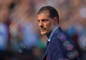 West Ham United's Croatian manager Slaven Bilic looks through the bubbles ahead of the English Premier League football match between West Ham United and Bournemouth at The London Stadium, in east London on August 21, 2016, West Ham's first home Premier League fixture in their new stadium. / AFP / Glyn KIRK / RESTRICTED TO EDITORIAL USE. No use with unauthorized audio, video, data, fixture lists, club/league logos or 'live' services. Online in-match use limited to 75 images, no video emulation. No use in betting, games or single club/league/player publications.  /         (Photo credit should read GLYN KIRK/AFP/Getty Images)