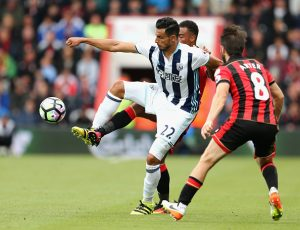 BOURNEMOUTH, ENGLAND - SEPTEMBER 10:  Nacer Chadli of West Bromwich Albion in action  during the Premier League match between AFC Bournemouth and West Bromwich Albion at Vitality Stadium on September 10, 2016 in Bournemouth, England.  (Photo by Warren Little/Getty Images)