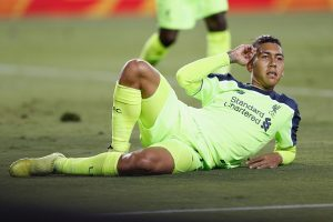 SANTA CLARA, CA - JULY 30: Roberto Firmino of Liverpool FC celebrates a goal during the International Champions Cup match against AC Milan at Levi's Stadium on July 30, 2016 in Santa Clara, California. (Photo by Lachlan Cunningham/Getty Images)
