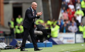 GLASGOW, SCOTLAND - AUGUST 06: Rangers manager Mark Warburton shouts instructions during the Ladbrokes Scottish Premiership match between Rangers and Hamilton Academical at Ibrox Stadium on August 6, 2016 in Glasgow, Scotland. (Photo by Lynne Cameron/Getty Images)