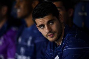 BARCELONA, SPAIN - SEPTEMBER 18:  Alvaro Morata of Real Madrid CF looks on prior to the La Liga match between RCD Espanyol and Real Madrid CF at the RCDE stadium on September 18, 2016 in Barcelona, Spain.  (Photo by David Ramos/Getty Images)