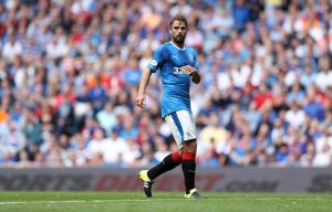 GLASGOW, SCOTLAND - AUGUST 06: Niko Kranjcar of Rangers during the Ladbrokes Scottish Premiership match between Rangers and Hamilton Academical at Ibrox Stadium on August 6, 2016 in Glasgow, Scotland. (Photo by Lynne Cameron/Getty Images)