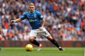 GLASGOW, SCOTLAND - AUGUST 06: Martyn Waghorn of Rangers during the Ladbrokes Scottish Premiership match between Rangers and Hamilton Academical at Ibrox Stadium on August 6, 2016 in Glasgow, Scotland. (Photo by Lynne Cameron/Getty Images)