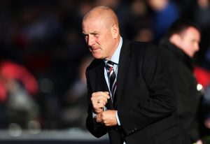 GLASGOW, SCOTLAND - JULY 25: Rangers manager Mark Warburton looks on during the Betfred Cup match between Rangers and Stranraer at Ibrox Stadium on July 25, 2016 in Glasgow, Scotland. (Photo by Ian MacNicol/Getty Images)