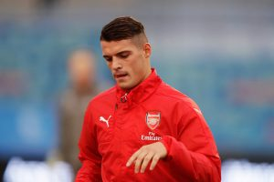 GOTHENBURG, SWEDEN - AUGUST 07: Granit Xhaka of Arsenal during the Pre-Season Friendly between Arsenal and Manchester City at Ullevi on August 7, 2016 in Gothenburg, Sweden. (Photo by Nils Petter Nilsson/Ombrello/Getty Images)