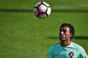 "Portugal's forward Gelson Martins eyes the ball during a training session at ""Cidade do Futebol"" (Football City) training camp in Oeiras, outskirts of Lisbon on October 6, 2016 on the eve of the FIFA World Cup Russia 2018 qualifier match Portugal vs Andorra.  / AFP / PATRICIA DE MELO MOREIRA        (Photo credit should read PATRICIA DE MELO MOREIRA/AFP/Getty Images)"