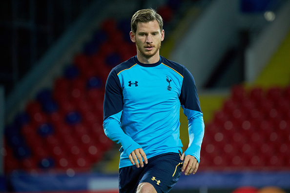 MOSCOW, RUSSIA - SEPTEMBER 26: Jan Vertonghen during a training session at the CSKA arena on September 26, 2016 on the eve of the UEFA Champions League group E football match between CSKA Moscow and Tottenham in Moscow, Russia. (Photo by Oleg Nikishin/Getty Images)