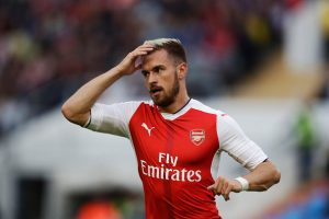 GOTHENBURG, SWEDEN - AUGUST 07: Aaron Ramsey of Arsenal during the Pre-Season Friendly between Arsenal and Manchester City at Ullevi on August 7, 2016 in Gothenburg, Sweden. (Photo by Nils Petter Nilsson/Ombrello/Getty Images)