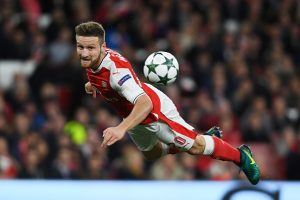 LONDON, ENGLAND - OCTOBER 19: Shkodran Mustafi of Arsenal in action during the UEFA Champions League group A match between Arsenal FC and PFC Ludogorets Razgrad at the Emirates Stadium on October 19, 2016 in London, England.  (Photo by Mike Hewitt/Getty Images)