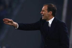 Juventus' coach Massimiliano Allegri gestures during the Italian Serie A football match Juventus vs As Roma on December 17, 2016 at the 'Juventus Stadium' in Turin.  / AFP / MARCO BERTORELLO        (Photo credit should read MARCO BERTORELLO/AFP/Getty Images)
