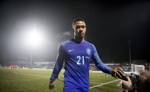 Netherlands' Memphis Depay leaves the field after winning the World Cup 2018 qualifying  match between Luxembourg and Netherlands on November 13, 2016 at the Josy Barthel Stadium in Luxembourg. / AFP / ANP / Jerry Lampen / Netherlands OUT        (Photo credit should read JERRY LAMPEN/AFP/Getty Images)