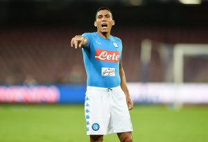 NAPLES, ITALY - OCTOBER 26:  Allan Marques Loureiro of Napoli in action during the Serie A match between SSC Napoli and Empoli FC at Stadio San Paolo on October 26, 2016 in Naples, Italy.  (Photo by Francesco Pecoraro/Getty Images)