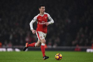 LONDON, ENGLAND - JANUARY 31:  Laurent Koscielny of Arsenal in action during the Premier League match between Arsenal and Watford at Emirates Stadium on January 31, 2017 in London, England.  (Photo by Mike Hewitt/Getty Images)