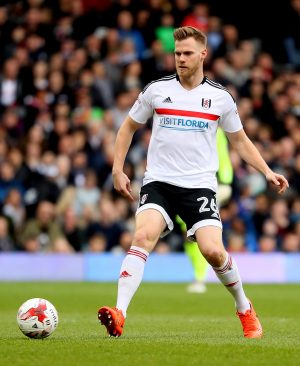 LONDON, ENGLAND - MARCH 18:  Tomas Kalas of Fulham in action during the Sky Bet Championship match between Fulham and Wolverhampton Wanderers at Craven Cottage on March 18, 2017 in London, England.  (Photo by Andrew Redington/Getty Images)