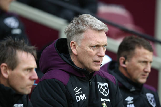 West Ham United locked in a three-way battle for McGhee (West Ham boss David Moyes seen in the picture)