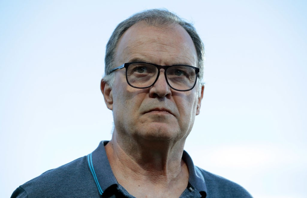 Marcelo Bielsa looking on sternly