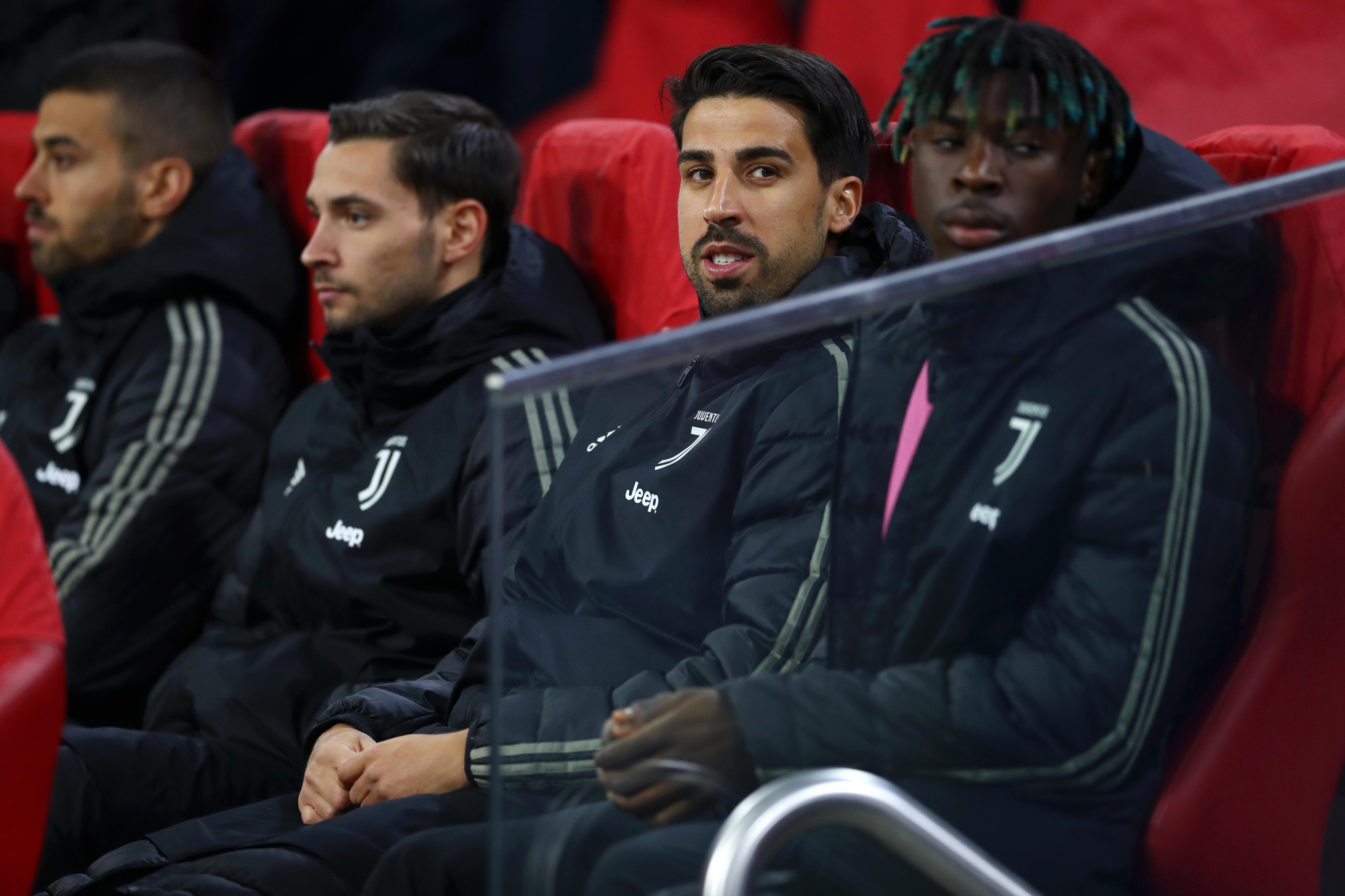 Manchester United target Sami Khedira among the Juventus substitutes