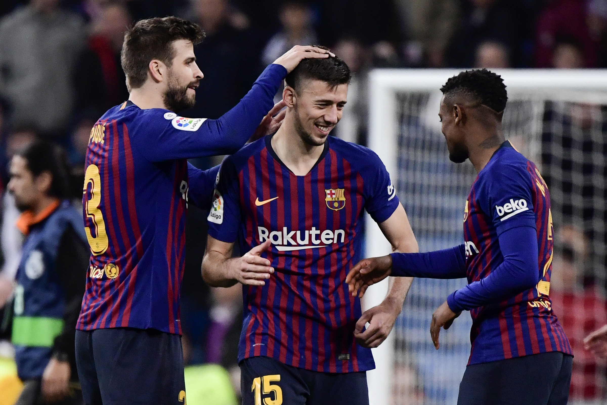 Barcelona unwilling to sanction Clement Lenglet's exit this summer (The French defender is seen celebrating in the picture.)