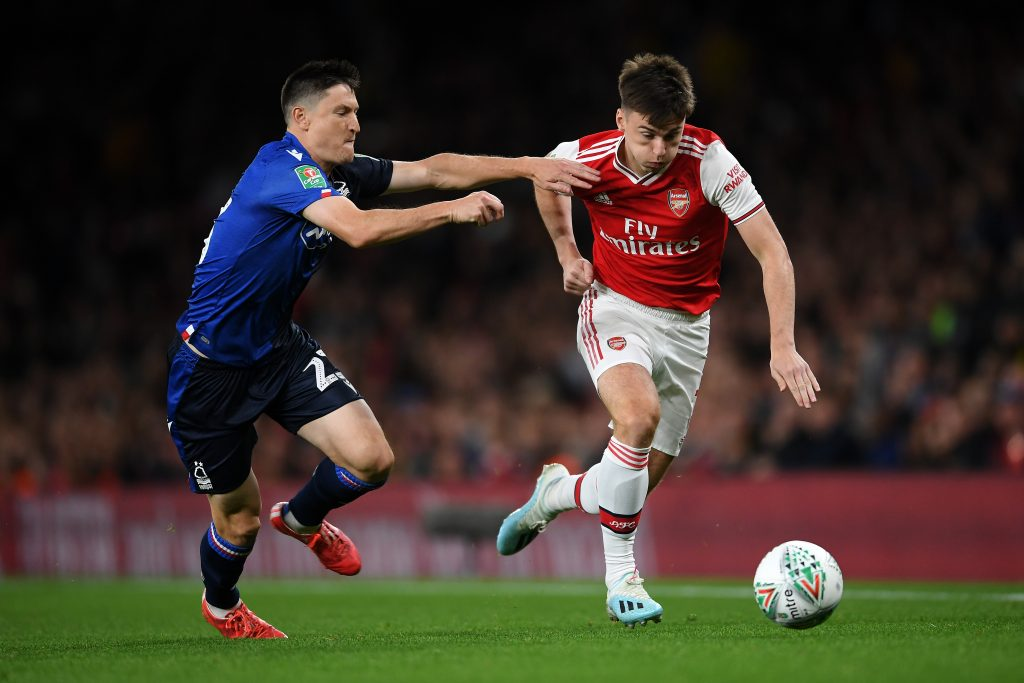 Arsenal might cash in on Tierney, who is in action in the picture, amid Leicester City interest