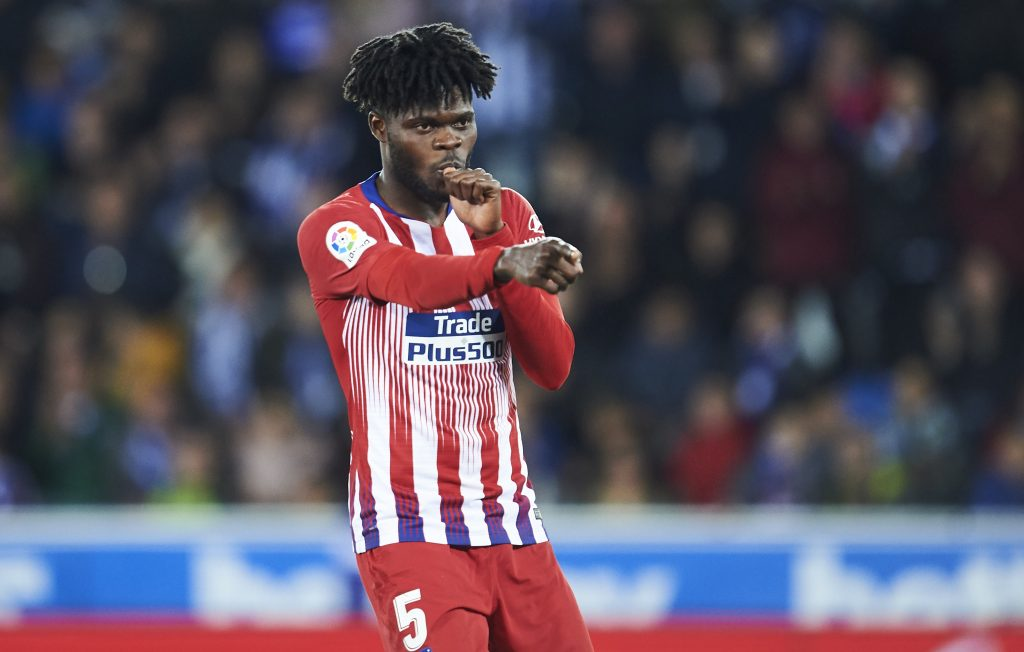 Arsenal are the most interested in recruiting Thomas Partey who is in action in the picture