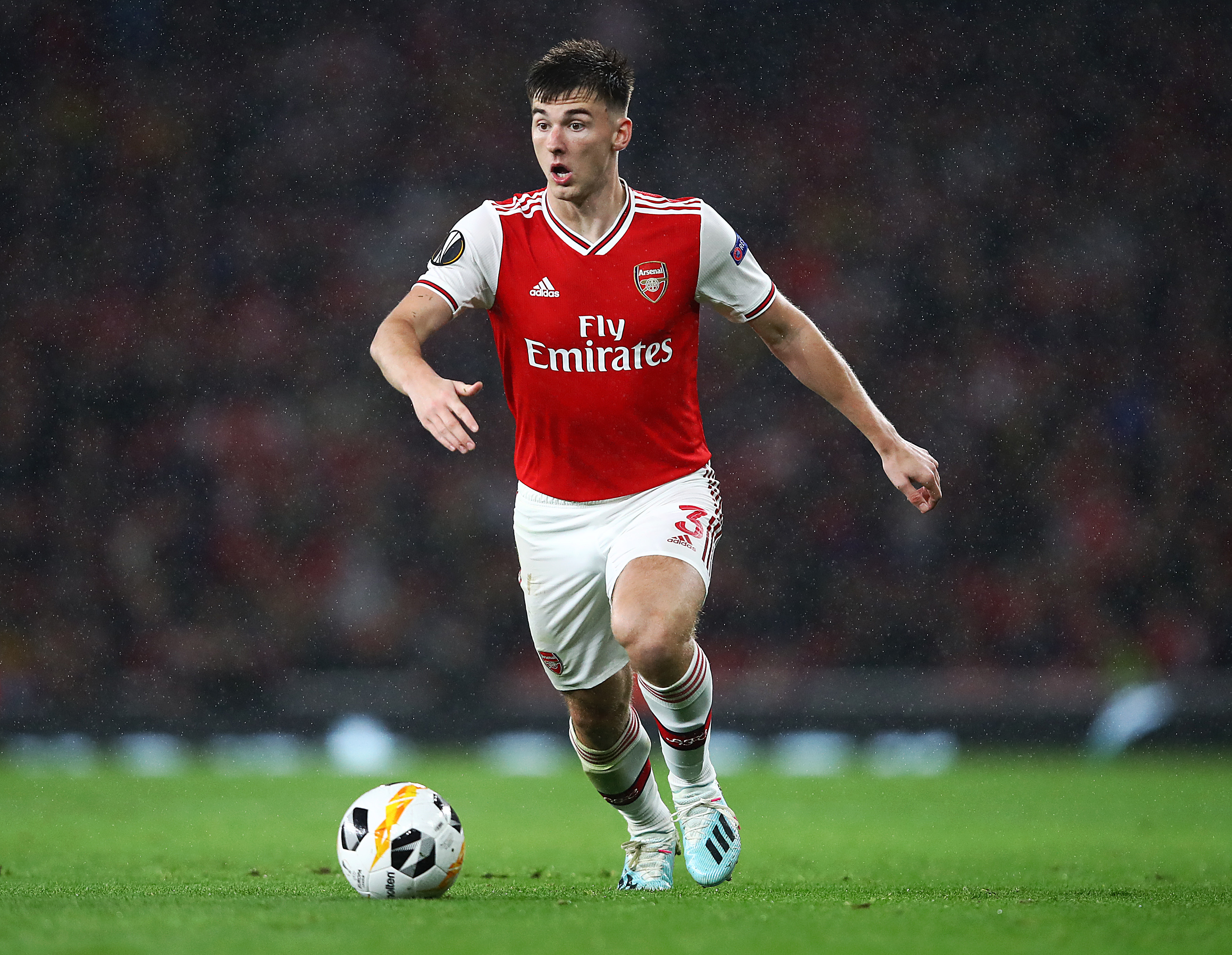 Arsenal might cash in on Tierney, who is seen in the photo, amid Leicester City interest