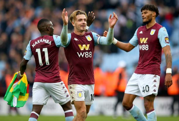 Aston Villa Predicted Lineup Vs Wolves (Villa players celebrating in the picture)