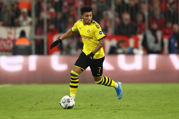 Sancho enjoying his time on the pitch.