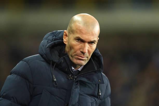 Zinedine Zidane looks on