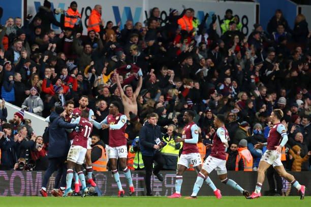 Newcastle United Vs Aston Villa Tactical Preview (Aston Villa players celebrating in the photo)