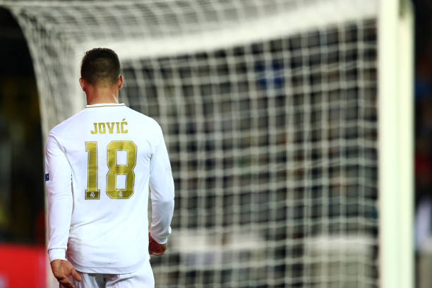 AC Milan eyeing a loan move for Real Madrid's Jovic who is seen in the photo
