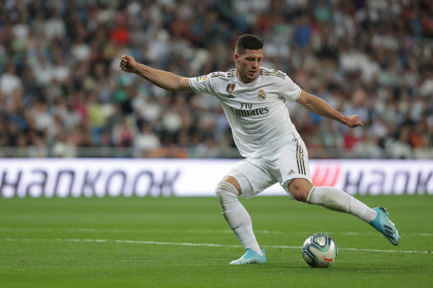 AC Milan eyeing a loan move for Real Madrid's Jovic who is in action in the photo