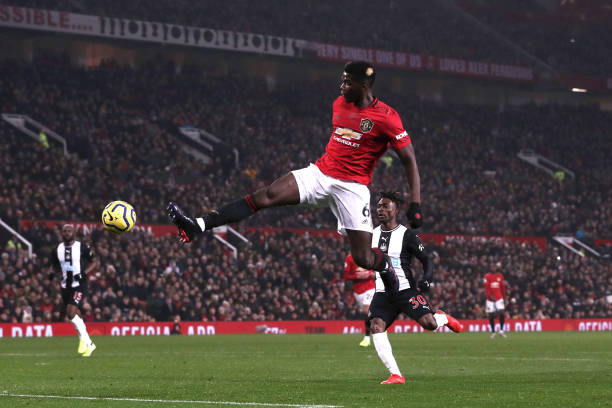 Update on Real Madrid's pursuit of Paul Pogba who is in action in the photo